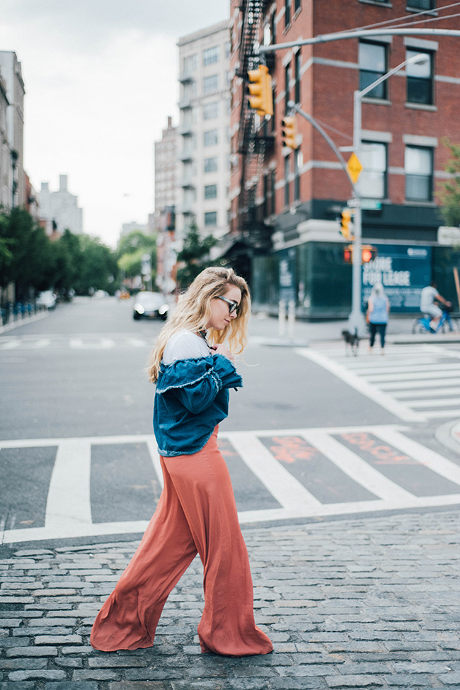 Mimosas and Manhattan | How to Wear Off-the-Shoulder Tops to Work