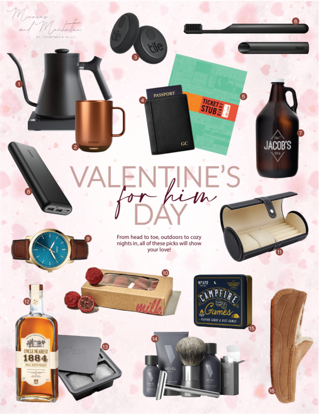 valentine's day gift guide, gift guide, vday, valentines day gifts for him, valentines, galentines